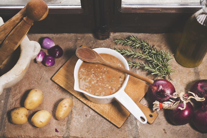 zuppa di farro con carote e patate